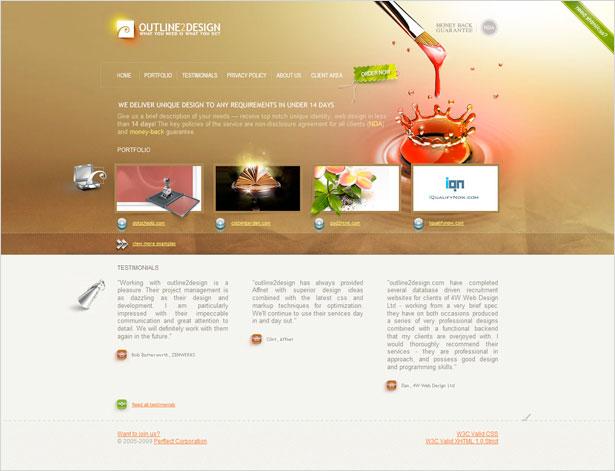 مثال طراحی وب